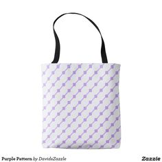 Purple Pattern Tote Bag  Available on many more products! Type in the name of this design in the search bar on my Zazzle products page!   #abstract #art #pattern #design #color #accessory #accent #zazzle #buy #sale #fashion #tote #bag #mirror #compact #make-up #women #living #modern #chic #contemporary #style #life #lifestyle #minimal #simple #plain #minimalism #square #line #white #purple