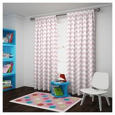 Add style and function to your décor with Eclipse™My Scene Wavy Chevron Curtains. Eclipse curtains offer a unique blend of fashion and function for any home décor. The innovative, white foam-backing is applied to the fabric and allows you to enjoy all of the light-blocking, noise reducing and energy saving benefits, while providing the same fashionable style and elegance of naturally flowing curtains. Hang two or more curtain panels on a standard or decorative rod f...