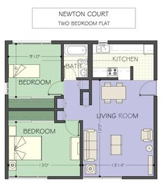 two bedroom flat - Google Search