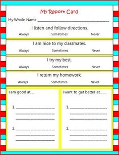 Great teaching tool for students to reflect on their behaviour.