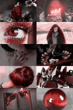 Mystery Aesthetique // Shirakuma Girl (Closed) by NorioSaburo Witch Aesthetic, Aesthetic Collage, Red Aesthetic, Wiccan, Pagan, Witchcraft, Color Inspiration, Character Inspiration, Color Splash