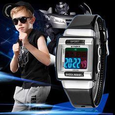 SYNOKE Kids Electronic Wrist Watch Digital Montre Enfant Shockproof Waterproof Children's Watches for Boys Girls Kid Shock Cloc #Affiliate