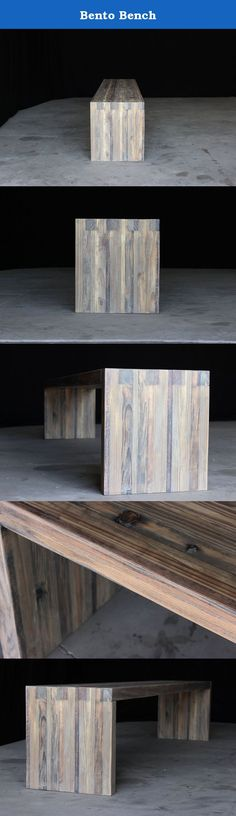 Bento Bench. DESCRIPTION the bento bench, pictured in the aged finish, is an exercise in modern simplicity. use it as seating at the dining table, in your entry way, or at the foot of the bed, or as a coffee table in the living room. this piece is available in table height, without footrests, and in bar and counter heights with footrests. PRODUCTION & ASSEMBLY ready to ship in 1-2 weeks   no assembly required   each item is hand-made to order; slight variations in texture, color, and tone...