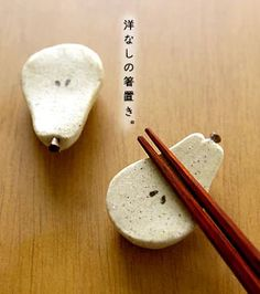Pear chopstick rests