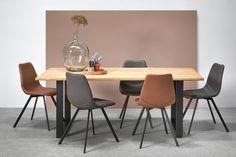 Stoel CALABRIA maakt tafelen nu wel héél aantrekkelijk. Combineer verschillende kleuren voor een eigen stijl! #kwantum #stoel #interieur #eetkamer #kwantumbelgie