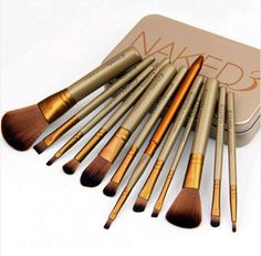 12pcs/set NAKED3 Makeup Cosmetic Powder Foundation Eyeshadow Lip Brushes