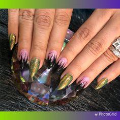 Maleficent inspired nails #maleficent #maleficentnails #claws #pointynails #stilletonails #halloweennails #villain #villainnails