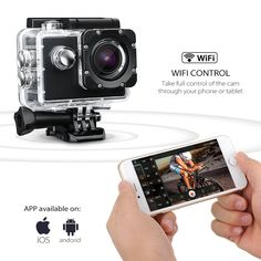 SOOCOO C30 SOOCOO App allows you to control your C30 with the touch of your iPhone, Android phone or Tablet PC. Remotely control functions and settting; You can also capture photos, record video, or transfer files. The UI is very easy to use.
