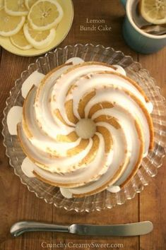 Lemon Bundt Cake - perfect cake for Spring, bursting with fresh lemon flavor. Dressed with sweet glaze.
