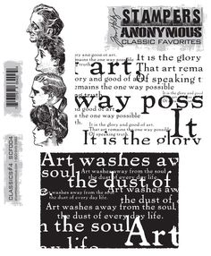 Tim Holtz Stampers Anonymous Classics 4 SCF-4