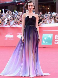 A-line Strapless Floor-length Sleeveless Chiffon Prom Dress/Evening Dress # VB556