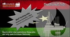#oiljobs #oc99jobs Well Testing Contract Jobs in Libya.  Onshore contracts. Sorry, due to strict visa restrictions we can only accept applications for these jobs from Libyan Nationals. www.oc99.com/vacancy/20530 Oil Jobs, Contract Jobs, Oil And Gas, Wellness