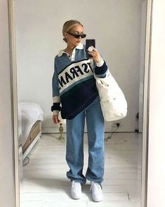 Retro Outfits, Cute Casual Outfits, Fall Outfits, Vintage Outfits, Casual Jeans, Beach Outfits, Girly Outfits, Fashion Vintage, Grunge Outfits