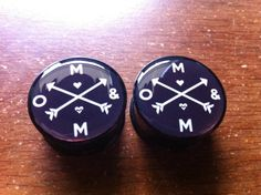 Of Mice and Men Arrow Plugs by SuperKawaiiPlugs on Etsy, $18.00