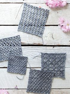 easy knit lace patte...