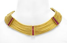 Hemmerle. A Gold and Ruby Choker, by Hemmerle. Available Exclusively at FD.  www.fd-inspired.com