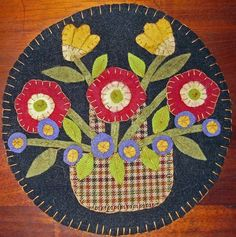 INSTANT DOWNLOAD E PATTERN PENNY RUG FLOWER BASKET