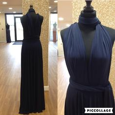 Navy multiway bridesmaid dress at The Dress Studio