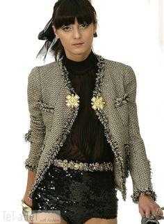 07P Chanel Gold Black Fringe Fantasy Jacket Fr 38 40   eBay