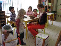Waarneming chocolade met de zintuigendobbelsteen Create, School, Schools