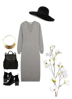 """Untitled #123"" by marieyi29xo ❤ liked on Polyvore featuring Tomas Maier, Eugenia Kim, Zara, GUESS, Tory Burch and OKA"