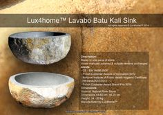 River Stone Sinks.... Lux4home™
