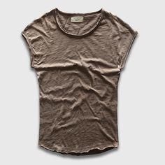 Basic Curved Hem T-Shirt