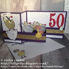 Lelly Jelly's Stamp 'n Scrap: Happy Birthday Chicky! Z Cards, Fun Fold Cards, Bird Cards, Pop Up Cards, Folded Cards, Cute Cards, 50th Birthday Cards, Happy Birthday, Up Book