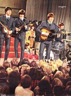 """27th November 1964. The Beatles perform on """"Ready Steady Go""""."""