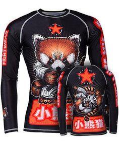 Tatami Meerkatsu Red Panda Jiu Jitsu Rash Guard MMA NOGI Grappling and MMA