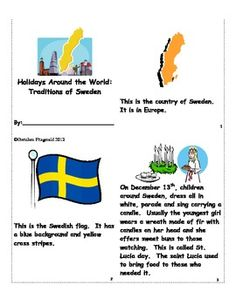 Holidays Around the World:  Traditions of Sweden - american girl unit study: Kirsten