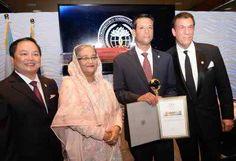 Dhaka City South Awami League felicitates Joy