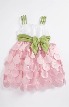 Iris & Ivy Sleeveless Dress for Toddler .. Nordstrom.. love the pink and green together for spring. :)