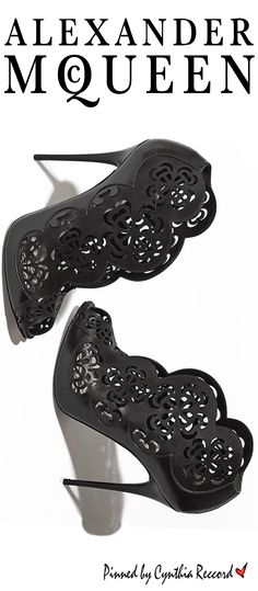 Elegance with an edge, laser-cut leather boots | Alexander McQueen | SS 2015 | cynthia reccord