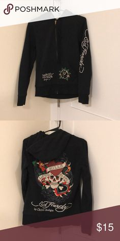 Ed Hardy by Christian Audigier Hoodie Ed Hardy by Christian Audigier Hoodie - like new! Ed Hardy Tops Sweatshirts & Hoodies