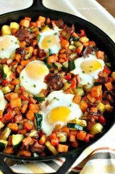 Sweet Potato Breakfast Skillet with Bacon Recipe - Allergy Free Alaska
