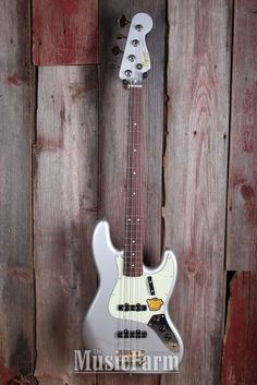 973617a6f8a Fender® Squier Classic Vibe '60s 4 String Electric Jazz Bass Guitar Inca  Silver #