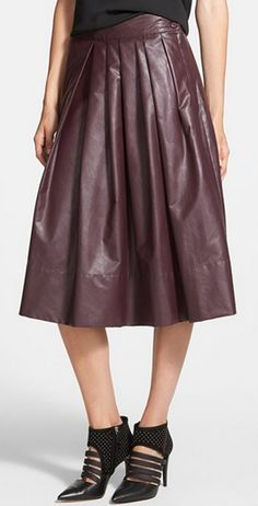leather pleated skirt http://rstyle.me/n/pw8fhnyg6