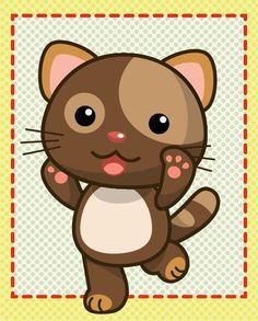 cute cat drawings | Tutorial How To Draw a Cute Brown Cat 8