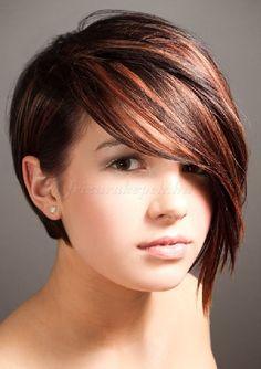 rövid női frizurák hosszú frufruval - rövid bubi hosszú frufruval