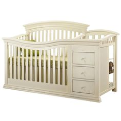 Sorelle Verona Convertible Crib Changer French White In Baby Nursery Furniture Cribs