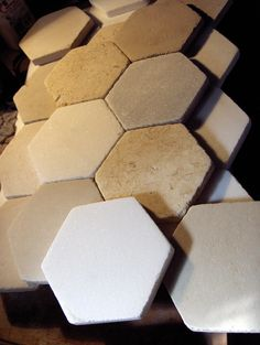 marble mosaic tiles hexagon honed surface  16,5 cm side to side (approx 6,5 in ) 2 cm thickness (0,787 in ) ahtanasmarble@gmail.com