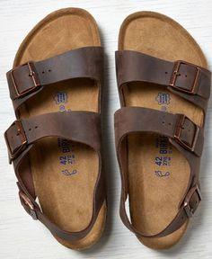 7fc3fb1f3e06 AEO Birkenstock Milano Leather Sandals