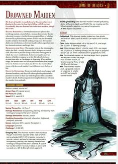 Mythological Creatures, Fantasy Creatures, Mythical Creatures, Dungeons And Dragons Rules, Dungeons And Dragons Homebrew, Dnd Stats, Rpg World, Dnd Classes, Dnd 5e Homebrew