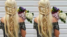 Bohemian Spring Hairstyle & Arrowhead Half Up Braid | Coachella Style