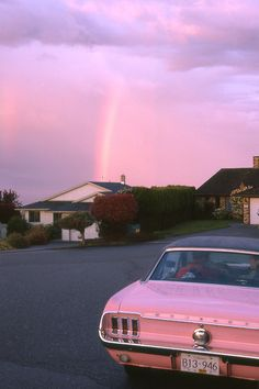 Coco Fennell pink cadillac rainbow pink sky