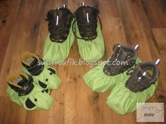 Návleky na boty | střih + návod | cz