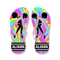 Cool Cheering Flip Flops  New Cheerleading designs now available! Show your love for Cheerleading with our exclusive Cheerleader Tees and Gifts.  http://www.cafepress.com/sportsstar/10189555  #Cheerleading #Cheerleader #Cheerleadergift #Lovecheerleading #PersonalizedCheerleader