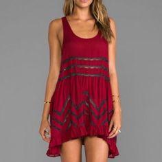 8650b375356cf Free People Trapeze Slip Dress Xs Red Crimson Dress, Closet Accessories,  Maxi Styles,
