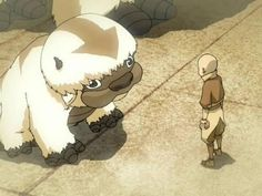 Little Appa and Aang. Can we just take a minute and appreciate how freaking cute Appa is?!